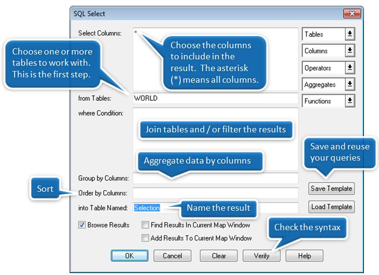 Bắt đầu với hộp thọai SQL Select