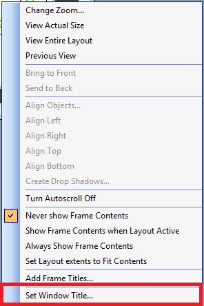 Đặt tiêu đề Layout Window từ menu chuột phải bằng Mapbasic