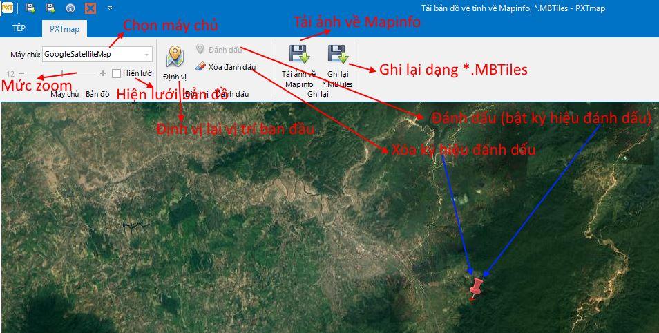 Tải ảnh vệ tinh về Mapinfo