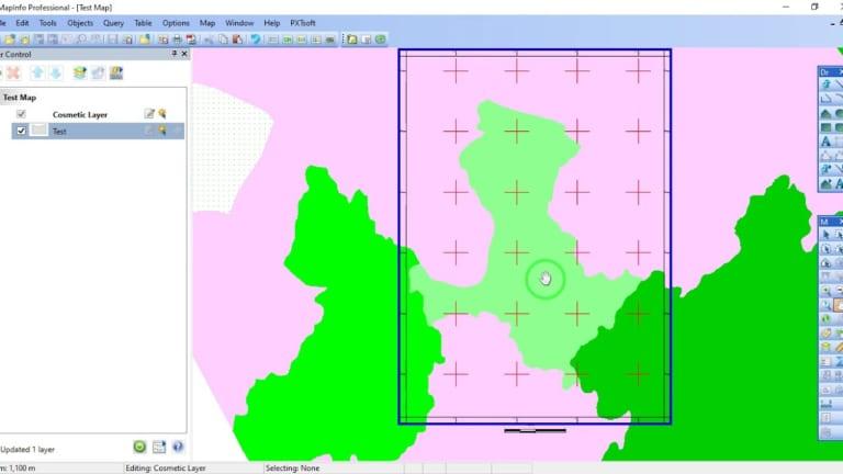 PXTsoft Grid Maker – Tool kẻ khung, lưới, tọa độ trong Mapinfo (Phiên bản PRO)